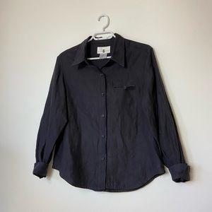Cotton Ginny Black Button Down Shirt